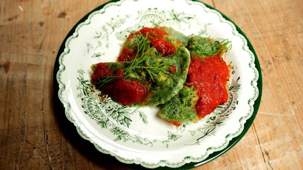 Spinazie ravioli