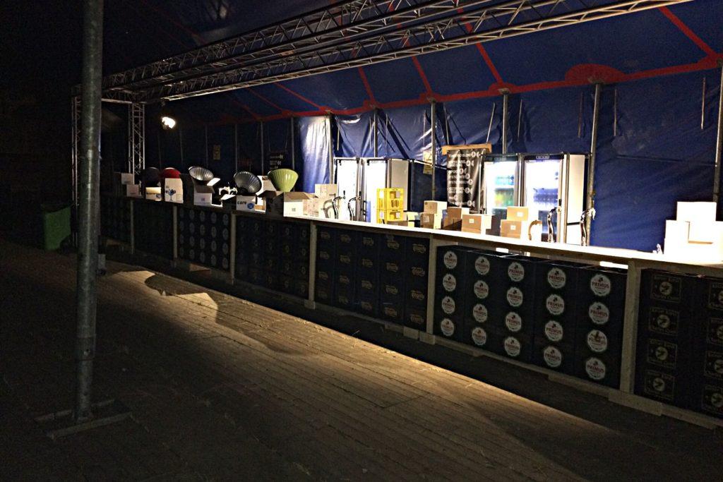 Bar op Bruis Festival in de tent
