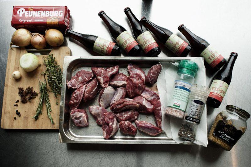 Varkenswangen in Tipsy bier ingrediënten